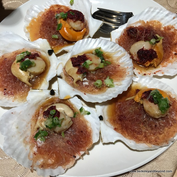 scallops at Jade Luminous restaurant at Fleur de Chine, Sun Moon Lake hotel