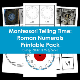Montessori Telling Time: Roman Numerals Printable Pack