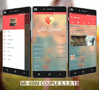 BBM MOD Mi-BBM Couple v3.1.0.13 APK Terbaru Elegant, Ringan & Flat Design
