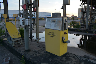 Gas pump at stall at Bayside Oil plant in Greenpoint