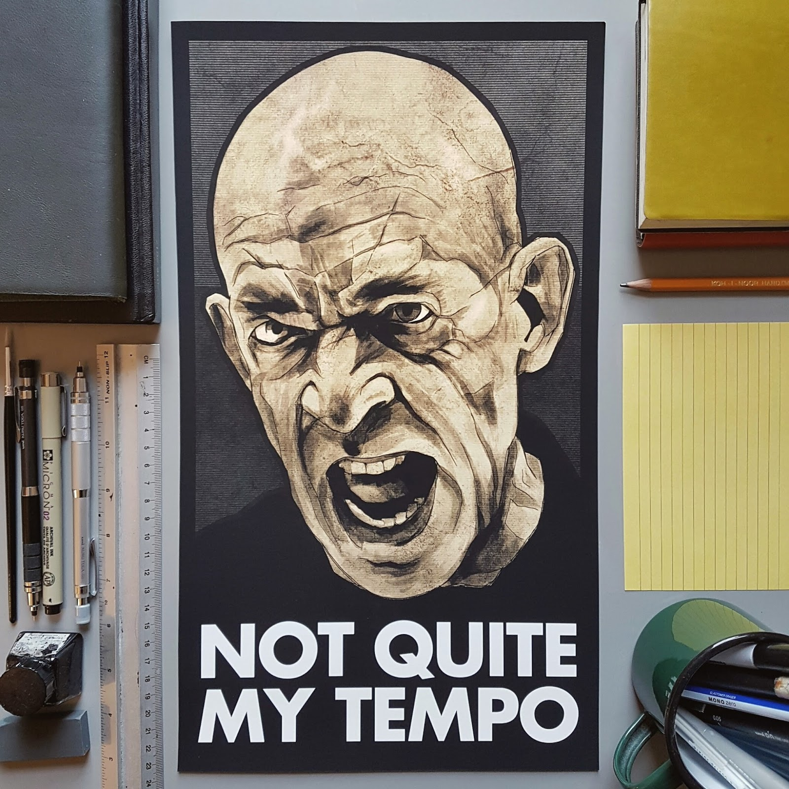 Whiplash JK Simmons Print