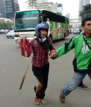 aksi heroik gojek sarinah, gojek penyelamat bom sarinah, gojek penolong bom sarinah