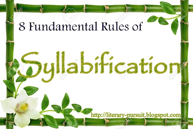 8 Fundamental Rules of Syllabification or Ins and Outs of Syllable