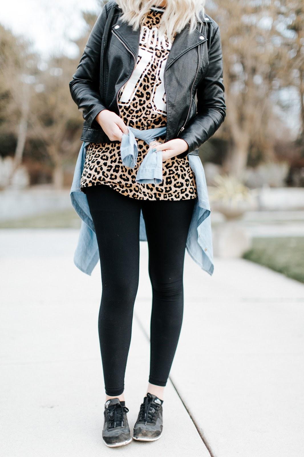 Leopard Shirt, Utah Fashion Blogger, Casual Outfit