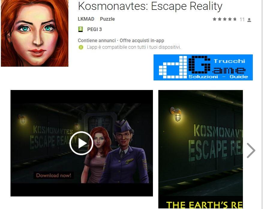 Soluzioni Kosmonavtes Escape Reality | Tutti i livelli risolti con screenshot soluzione