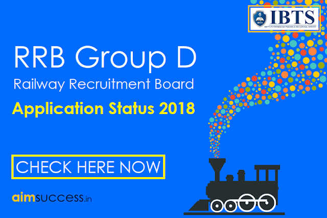 RRB Group D Application Status 2018  Check Now