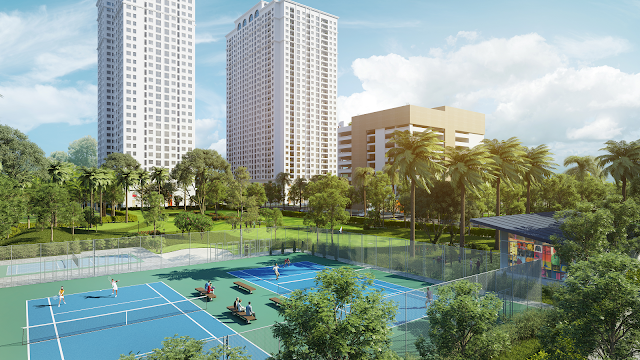 Sân tennis tại Eco Lake View