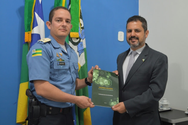 novo superintendente da Abin em Sergipe visita GMA