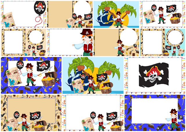 Pirate Boy: Free Printable Invitations.