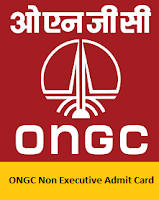 ONGC Non Executive Admit Card