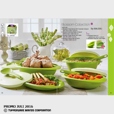 Blossom colection Promo Tupperware Juli 2016