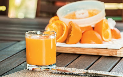 fresh orange juice widescreen resolution hd wallpaper