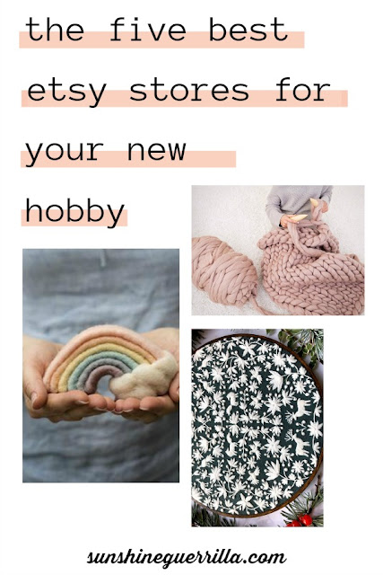 the five best etsy stores for a new hobby