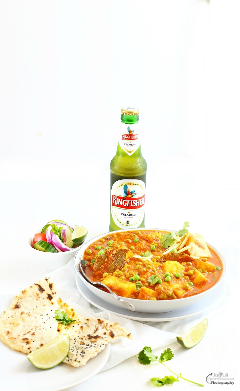 Jagrutis cooking odyssey matar paneer green peas with indian matar paneer green peas with indian cottage cheese product review kingfisher beer forumfinder Choice Image