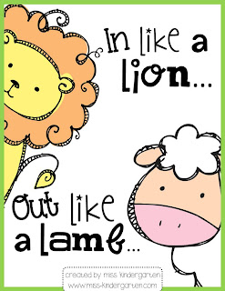 In Like a Lion...Out Like a Lamb - Miss Kindergarten