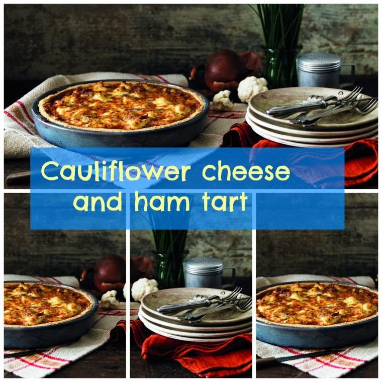 Cauliflower Cheese And Ham Tart: Party Food