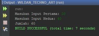 Contoh Penggunaan Scanner menggunakan Integer