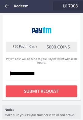 redeem paytm cash