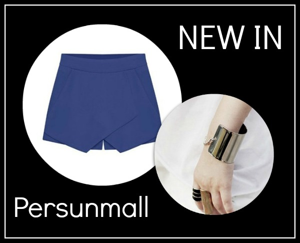 New In: Blue Skorts & Silver Bracelet from Persunmall