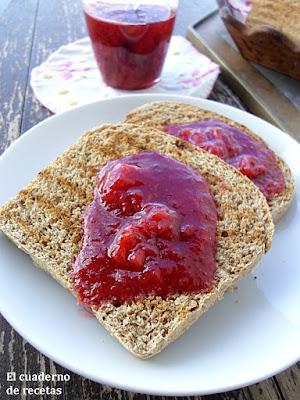 Mermelada de Fresas en Microondas{Apta para Diabéticos}
