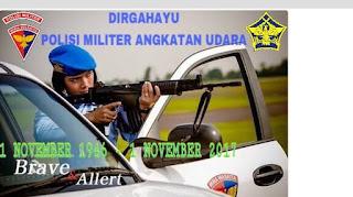 Dirgahayu Polisi Militer TNI AU ke-71