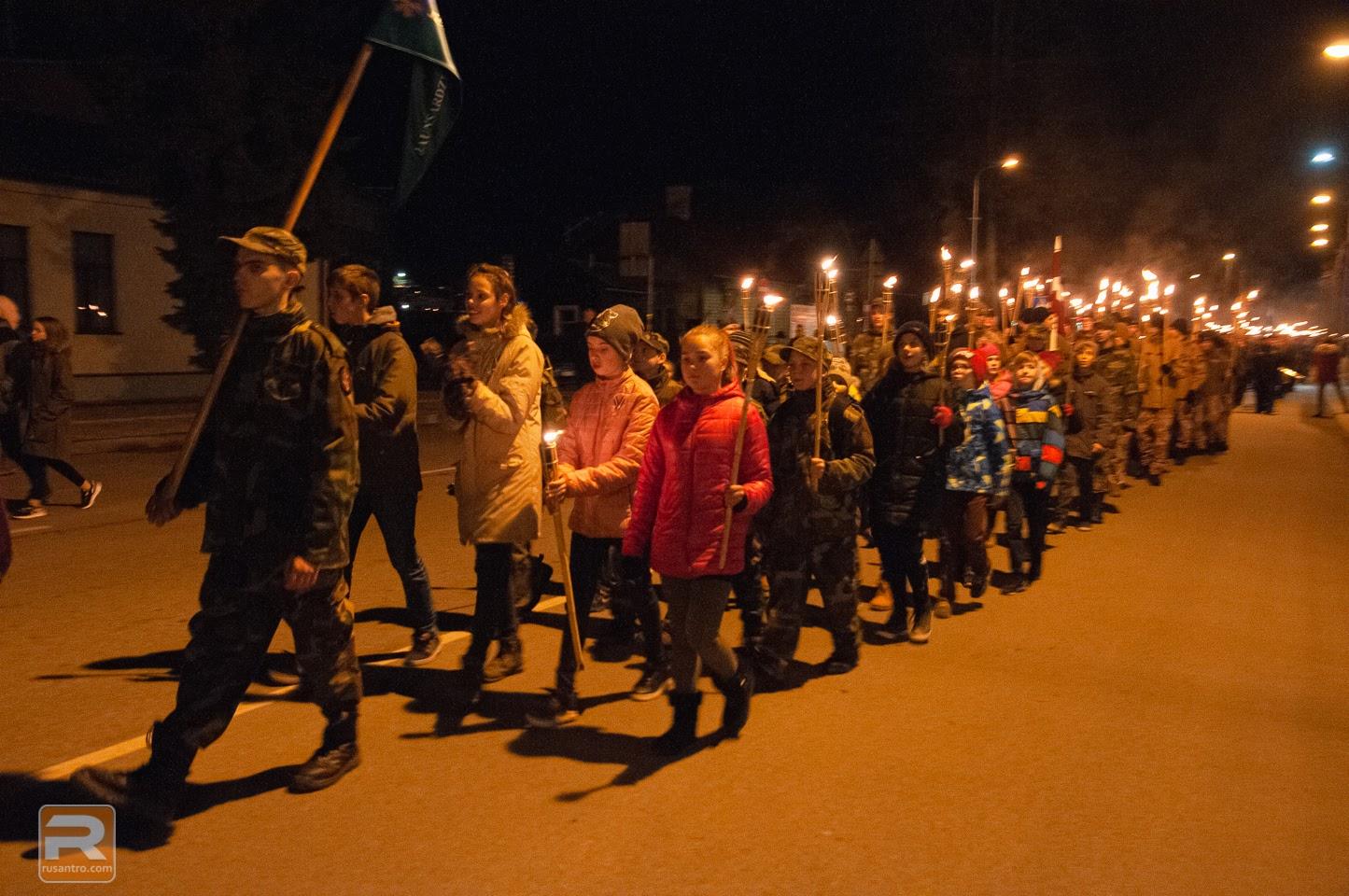 Jaunsargi lāpu gājienā Jelgavā
