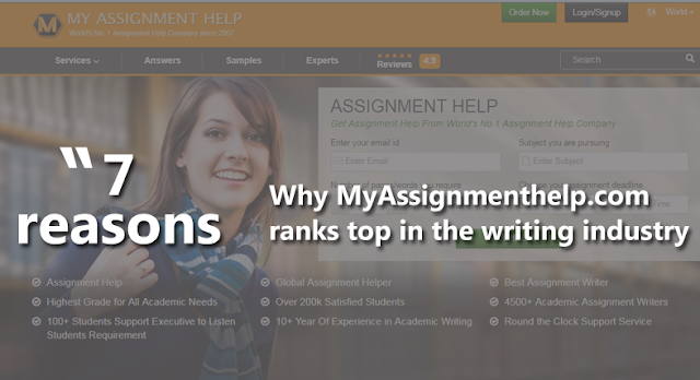 7 reasons why MyAssignmenthelp.com ranks top in the writing industry
