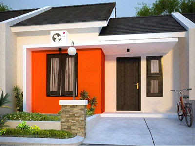 contoh warna cat rumah bagian depan yang cerah