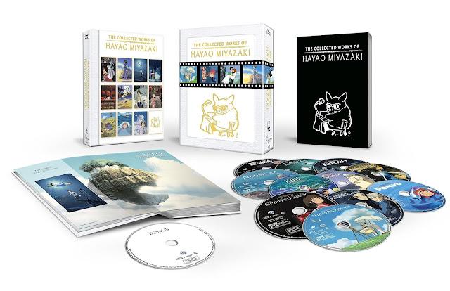 Zestaw filmów blu-ray Hayao Miyazakiego, w więksości filmy Studia Ghibli