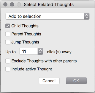 Select Related Thoughts Dialog