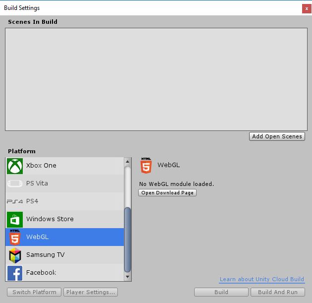 สร้างเกม ด้วย Unity - Unity Web Build - สร้างเกมส์ ด้วย