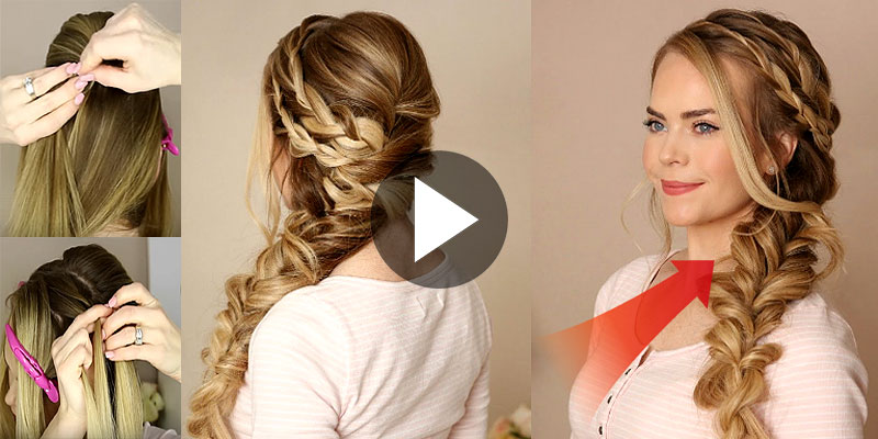 Excellent How To Make Mermaid Side Braid Hairstyle Viral Remedy Hairstyle Inspiration Daily Dogsangcom