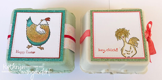 Stampin' Up! Mini Egg Cartons, Hey Chick, Sale-A-Bration, Easter Gifts created by Kathryn Mangelsdorf