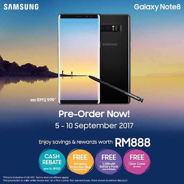 Samsung Note 8 Malaysia Price Pre-order Discount Offer Promo