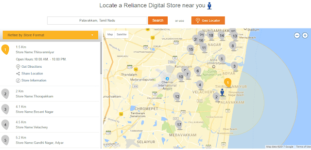 Find Reliance Digital Stores Near By Using RIL Official Website