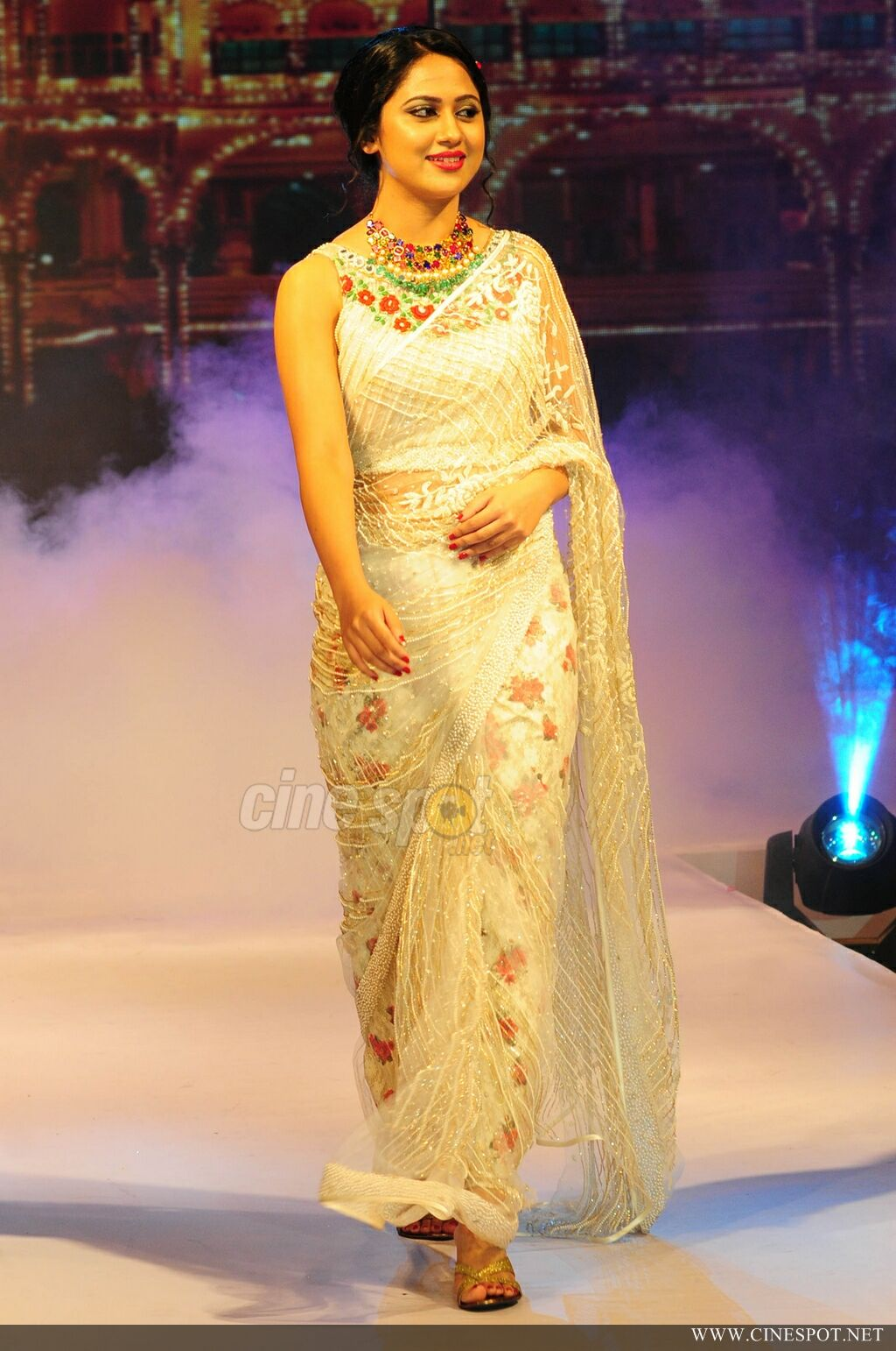 Mia George Latest Hot Photos In Saree From Kerala Fashion