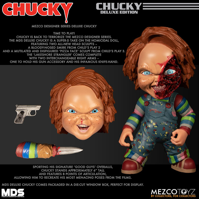 Mezco Designer Series Deluxe Chucky figure