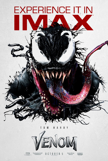 "Póster IMAX de ""VENOM""."