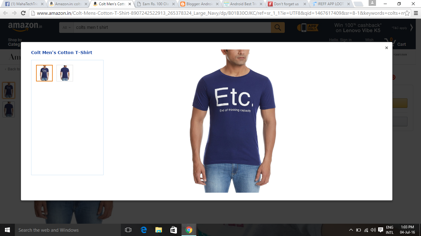 48a00880b Colts Men s T-Shirt At Rs 149 Only ~  b Android Tricks   All  b