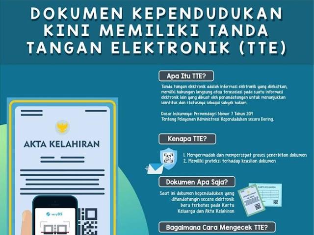 Per 15 April 2019, KK dan Akta Kelahiran Pakai Tanda Tangan Elektronik