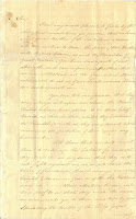 First page of two of Washington's letter