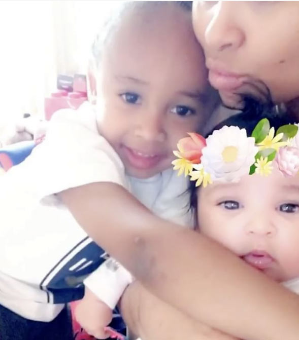 """""""My babies"""": Black Chyna shows off her two kids"""