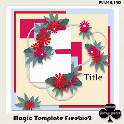 A Merry Little Christmas by Feli Designs, Magic Template Freebie2 by moromu Scrap world