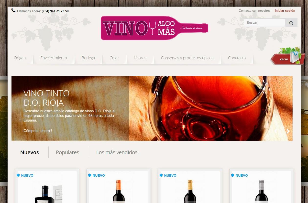 tienda online de vino. vino y algo mas