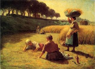 Джон Оттис Адамс John Ottis Adams  Жницы отдыхают (Полдень) 1886 Gleaners at Rest (also known as Nooning)