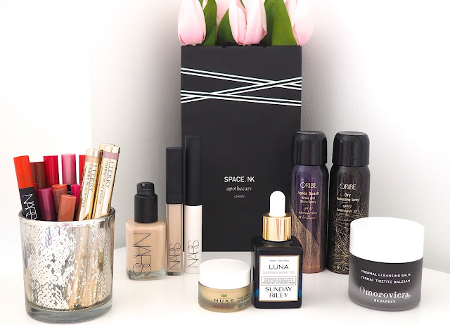 A picture of 10 of my favourite beauty products from Space NK