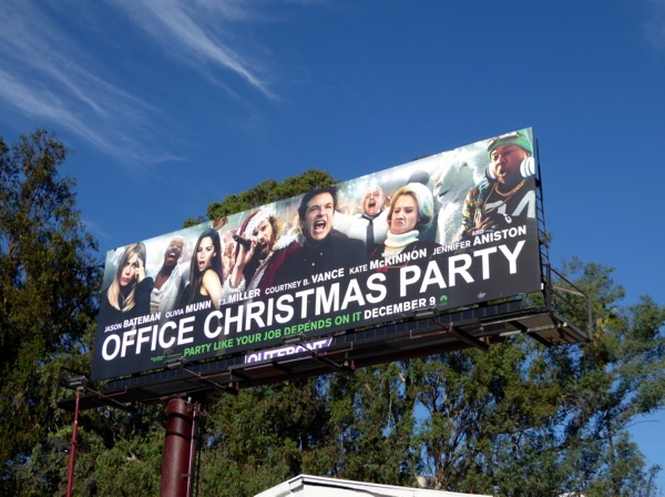 Office Christmas Party movie billboard