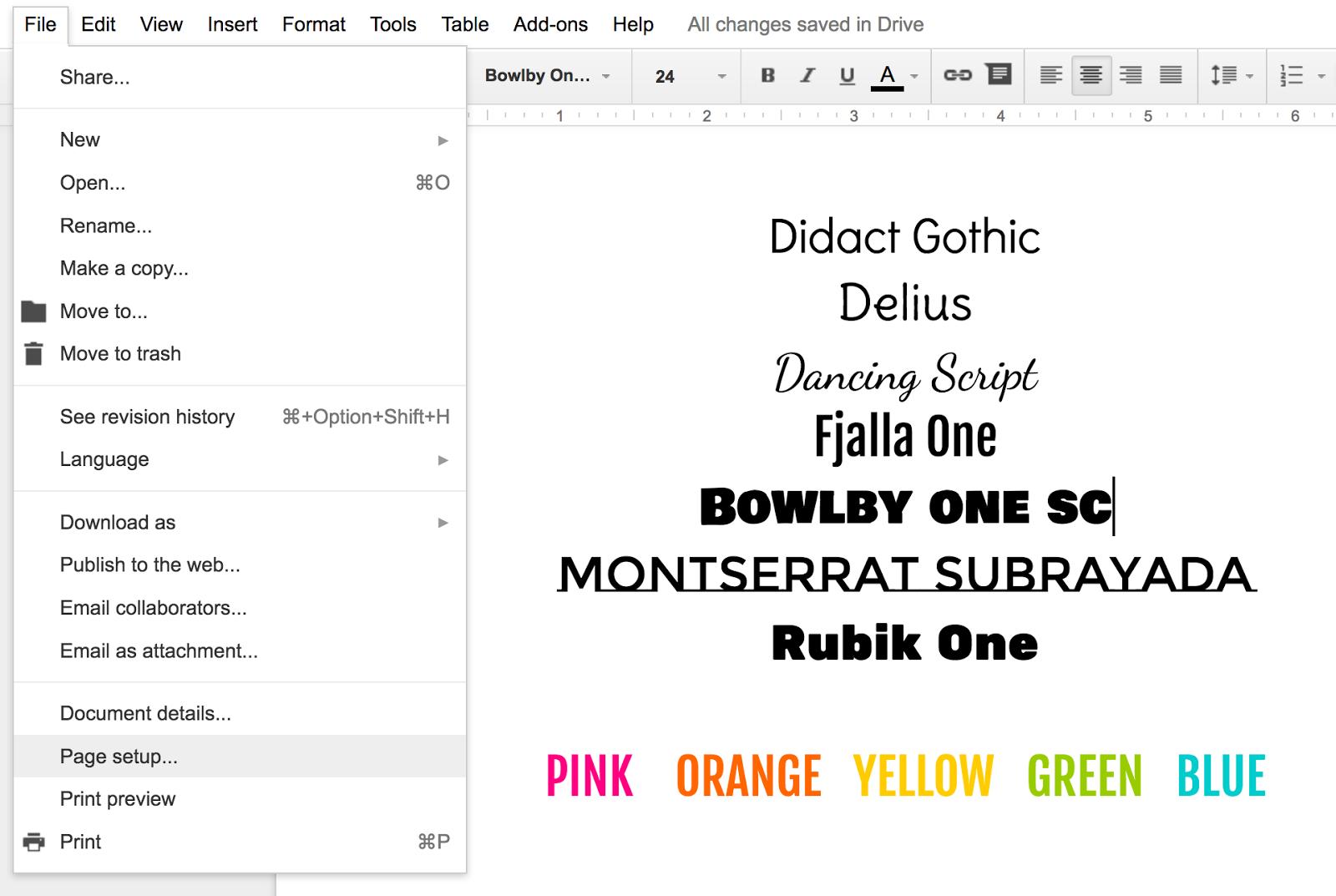 Designing Beautiful Google Docs – Ladybug's Teacher Files