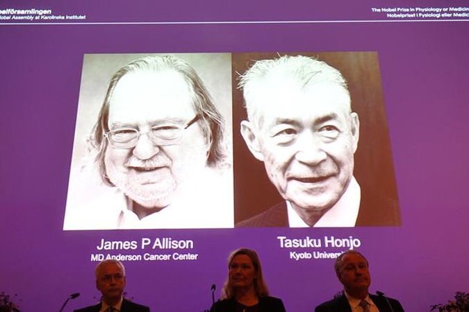 Penelitian James Allison and Tasuku Honjo share 2018 Nobel Prize in Physiology