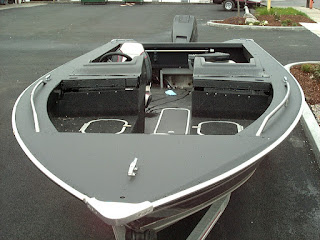 Boat painted with bedliner
